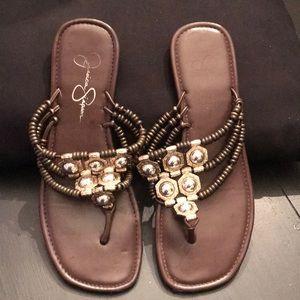Women's flip flops, flats. Size 8
